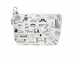 Los Angeles Zipped Pouches Natural