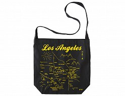 Los Angeles Black Hobo Tote