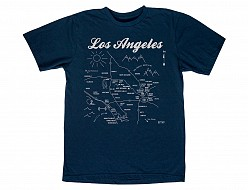 Los Angeles Adult Tee Navy