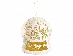 Los Angeles Ornament Gold