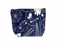Los Angeles Makeup Pouch - Denim