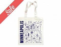 Minneapolis Grocery Tote (Dark Blue) - SALE