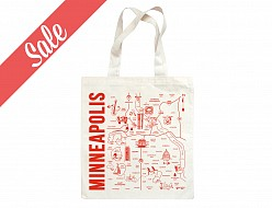 Minneapolis Grocery Tote (Red) - SALE