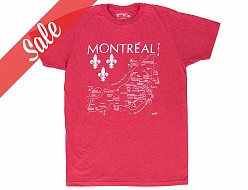 Montreal Adult Tee Red - SALE