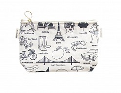 Multi-City Zipped Pouches Natural