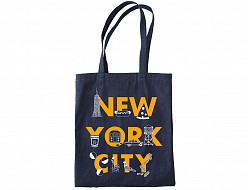 New York City FONT Denim Tote