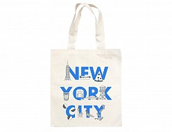 New York City FONT Grocery Tote