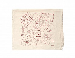 New York City Tea Towel Natural