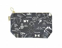 New York City Zipped Pouches Gray