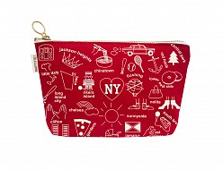 New York City Zipped Pouches Red