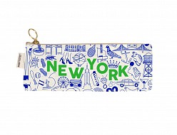 New York City Pencil Pouch Natural