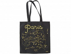 Paris Black Everyday Tote