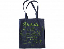Paris Denim Tote