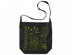 Philadelphia Black Hobo Tote