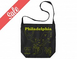 Philadelphia Black Hobo Tote - SALE