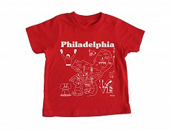 Philadelphia Toddler Tee Red