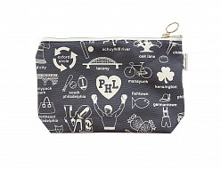 Philadelphia Zipped Pouches Gray