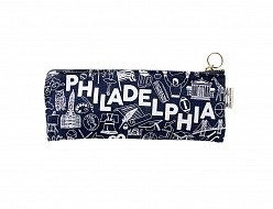 Philadelphia Pencil Pouch Denim