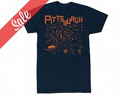 Pittsburgh Adult Tee Navy - SALE