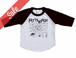 Pittsburgh Black Baby Baseball Tee - Sale