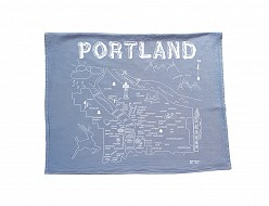 Portland Tea Towel Blue