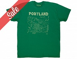 Portland Adult Tee Heather Green- SALE