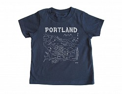Portland Toddler Tee Navy