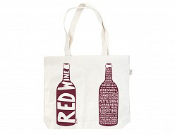 Red Double Wine Tote