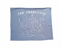 San Francisco Tea Towel Blue
