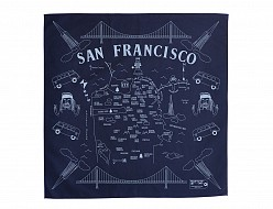 San Francisco Bandana - Navy