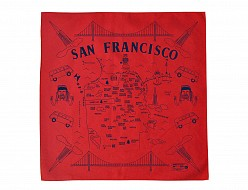San Francisco Bandana - Red