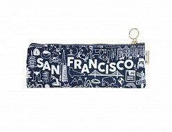 San Francisco Pencil Pouch Denim
