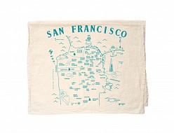 San Francisco Tea Towel Natural