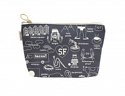 San Francisco Zipped Pouches Gray