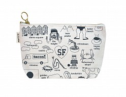 San Francisco Zipped Pouches Natural
