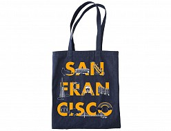 San Francisco FONT Denim Tote