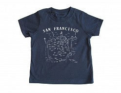 San Francisco Toddler Tee Navy