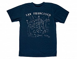 San Francisco Adult Tee Navy