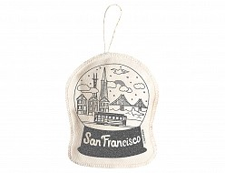 San Francisco Ornament Silver