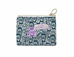 San Francisco Coin Purse Dark Teal/Purple