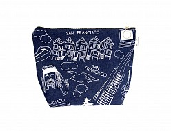 San Francisco Makeup Pouch - Denim