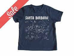 Santa Barbara Navy Toddler Tee - SALE