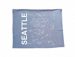 Seattle Tea Towel Blue