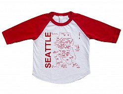 Seattle Baby Baseball Tee