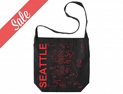 Seattle Black Hobo Tote - SALE