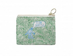 Seattle Coin Purse Green/Periwinkle