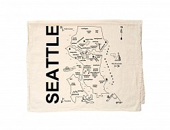Seattle Tea Towel Natural