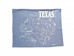 Texas Tea Towel Blue
