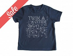 Twin Cities Navy Toddler Tee - SALE