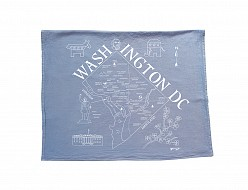 Washington DC Tea Towel Blue